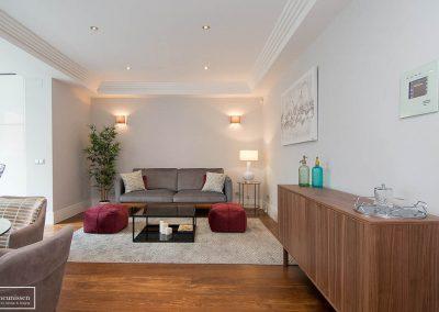 Home Staging piso piloto con muebles de compra en barrio Salamanca – Madrid