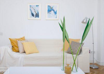 Home Staging con muebles efímeros de alquiler en el centro de Madrid
