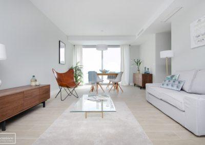 Home staging piso piloto con mobiliario de alquiler Theunissen en Madrid