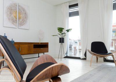 Home Staging con muebles de alquiler para piso de lujo zona prime Madrid