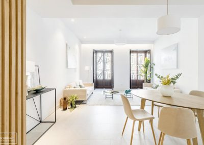 Home Staging en piso piloto con muebles de alquiler en Alonso Martínez – Madrid
