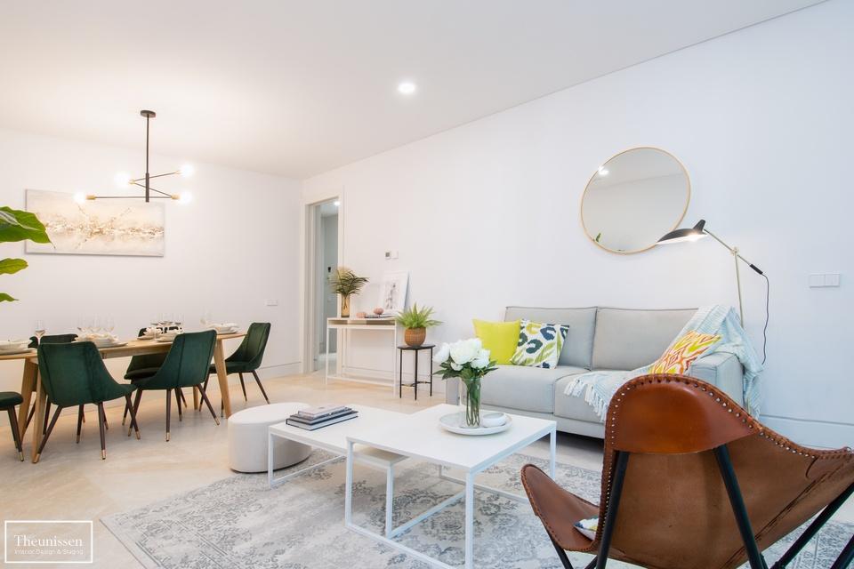 Home staging en piso piloto con muebles de alquiler en Chamartin – Madrid