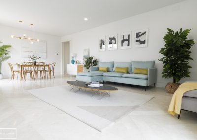 Home Staging en duplex con muebles de alquiler en Chamartin – Madrid